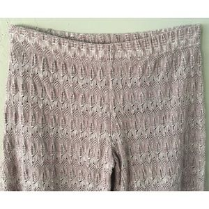 Free People Pants - FREE PEOPLE CROCHET KNIT WIDE LEG PANTS SZ 0